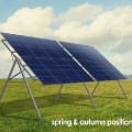 Seasonal Adjusted Solar Panel Mounting Frame Spring & Autumn Position