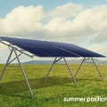 Seasonal Adjusted Solar Panel Mounting Frame Summer Position