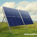 Seasonal Adjusted Solar Panel Mounting Frame Winter Position